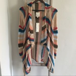 Olive & Oak Loose knit Striped Sweater
